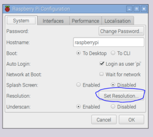 Easier Way to Set Resolution Raspberry Pi – Robbys Web